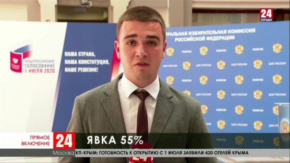 Явка на голосовании по поправкам к Конституции в России составила 55 %