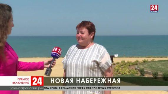 В селе Угловое Бахчисарайского района открыли новую набережную