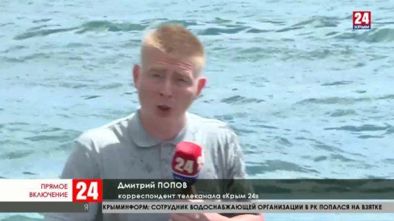 Крымские пограничники проводят учения на пляжах Ялты