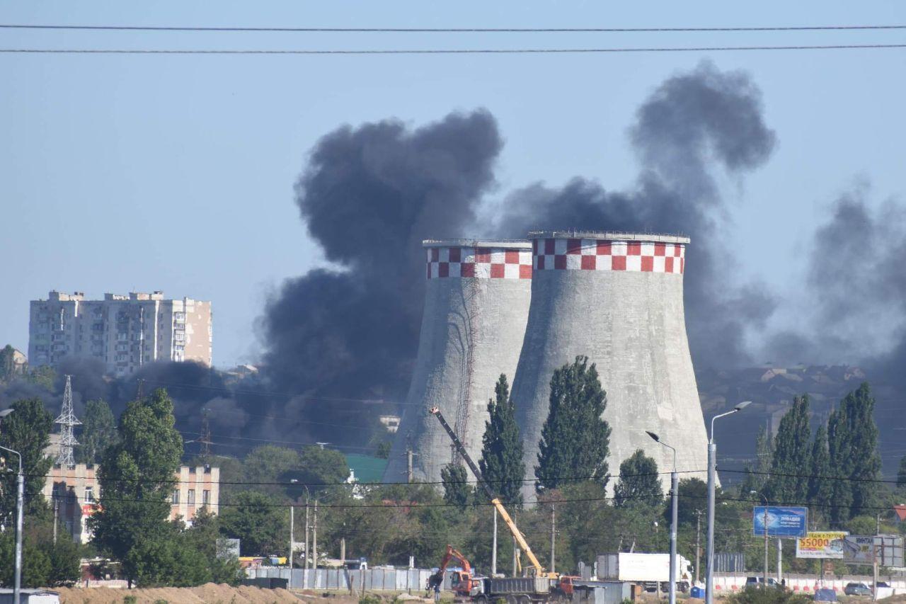 Стала известна площадь пожара возле Симферопольской ТЭЦ