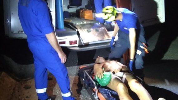 На Медведь-горе мужчина повредил ногу и не смог слезть