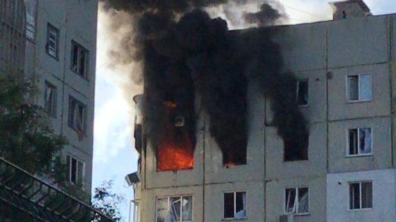 В Керчи потушили пожар в многоэтажке