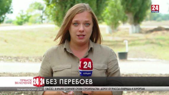 В селе Изобильное Нижнегорского района запустили водопровод после капитального ремонта