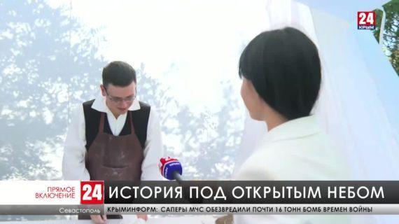 На Малаховом кургане проходит международный военно-исторический фестиваль «Русская Троя»