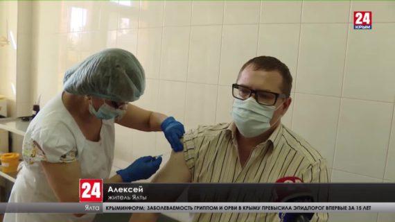 В Ялте вакцинировали от гриппа восемь тысяч человек