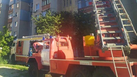 В Симферополе загорелась квартира в многоэтажке