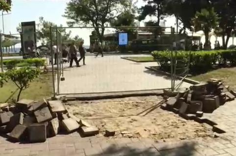 В Ялте реконструируют сквер Калинина