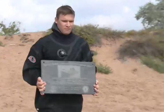 В Керченском проливе установили памятный знак на затонувший катер времён Великой Отечественной войны