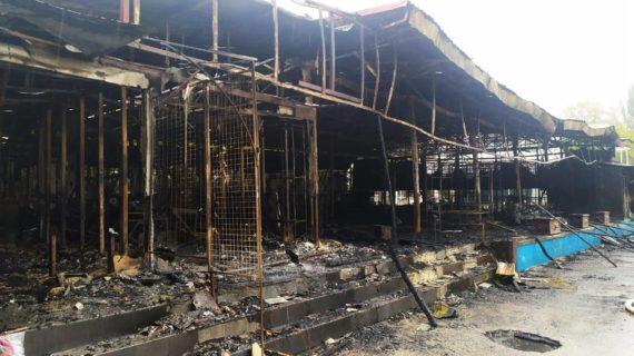 В центре Феодосии снесут сгоревшие кафе и торговые точки