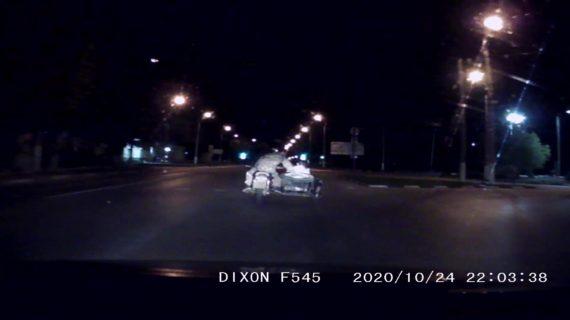 В Керчи пьяный мотоциклист пытался скрыться от погони. ВИДЕО