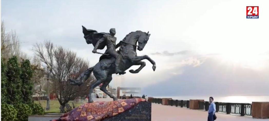 Памятник генералу Петру Котляревскому устанавливают в Феодосии