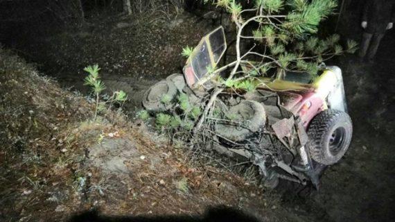 В Белогорском районе из-за тумана автомобиль улетел в кювет и опрокинулся на бок