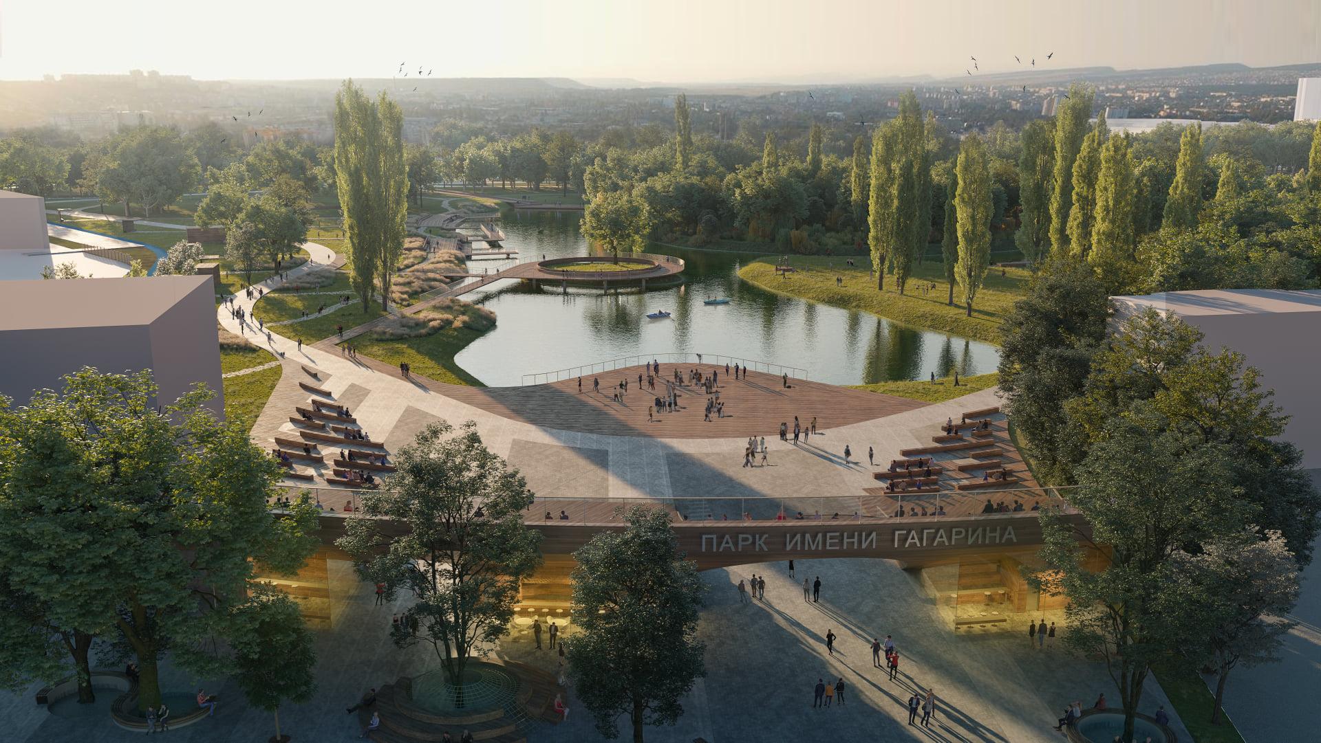 Как будет выглядеть Гагаринский парк в Симферополе после реконструкции