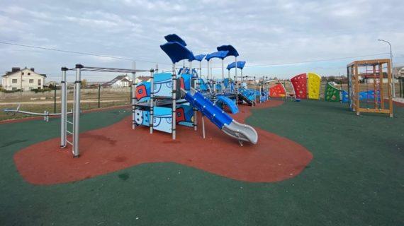 В Симферопольском районе открыли 2 новые детские площадки