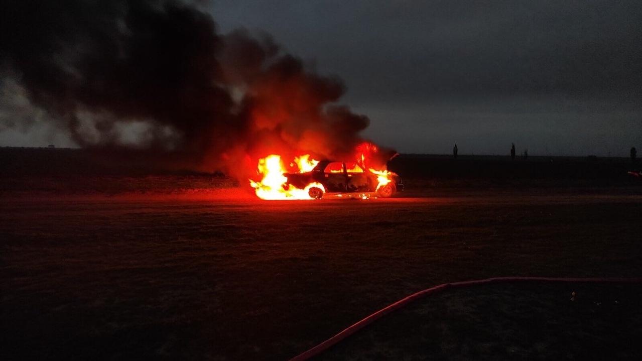 В Крыму мужчина сгорел в легковушке