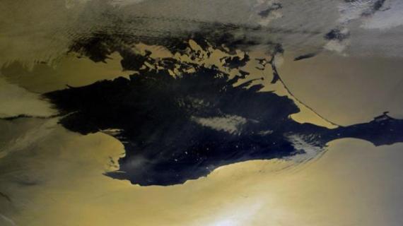 Как выглядит Крым из космоса. ФОТО