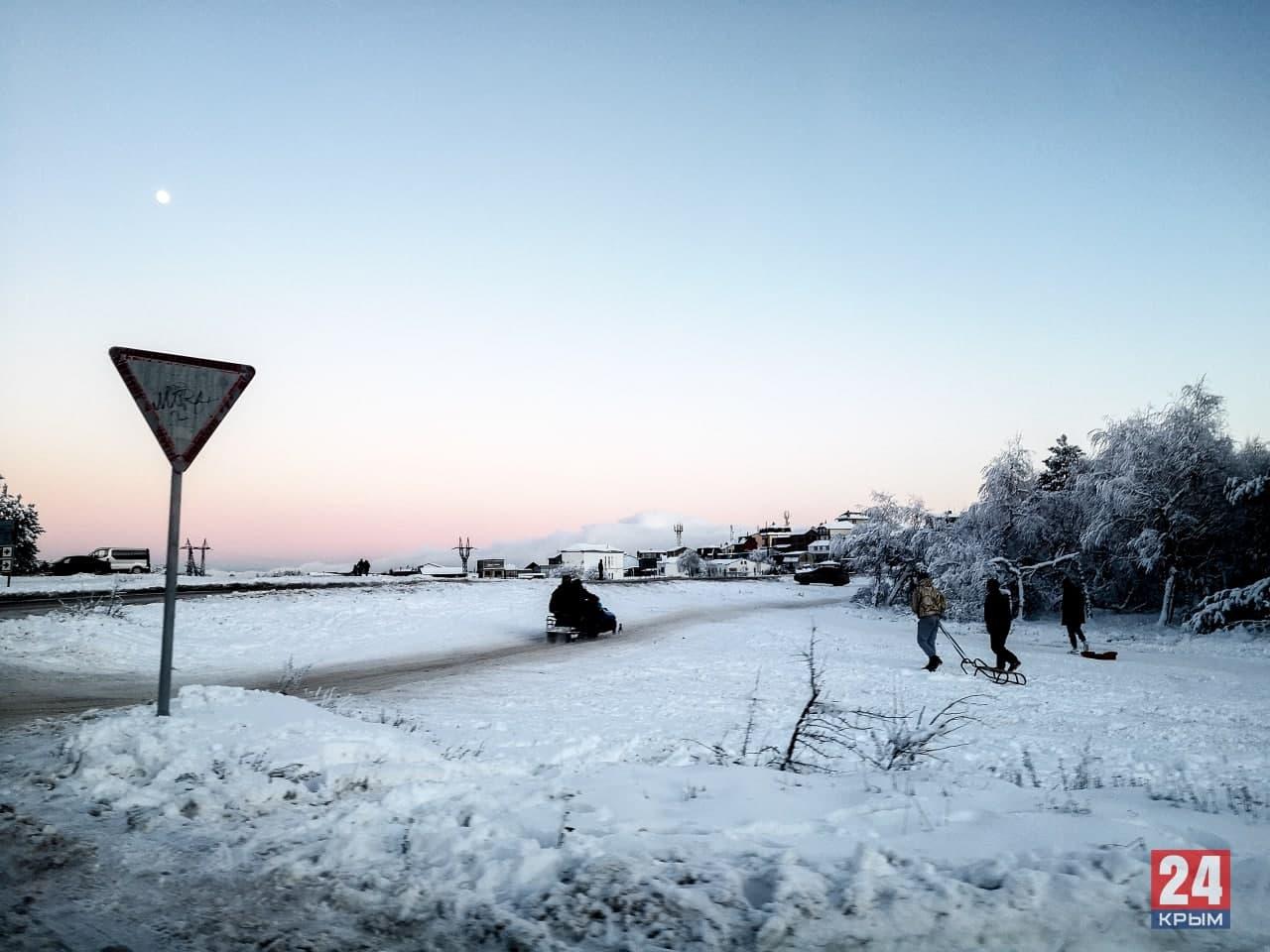 Где в Крыму снег: куда ехать, чтобы покататься на лыжах, санках, тюбингах
