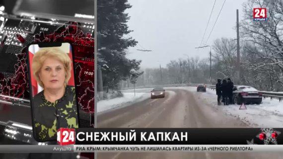 Сильный снег затруднил движение автомобилей на Ангарском перевале