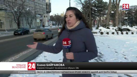 Снег и мороз не покидают Крым