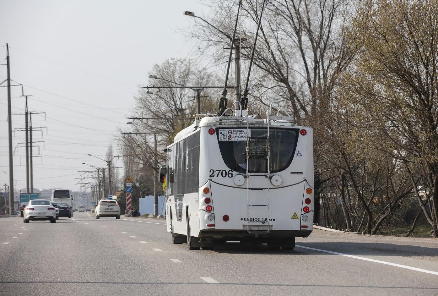 Троллейбусы снова курсируют по Большой Ялте после наводнения