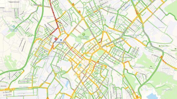 Какие районы Симферополя погрязли в пробках