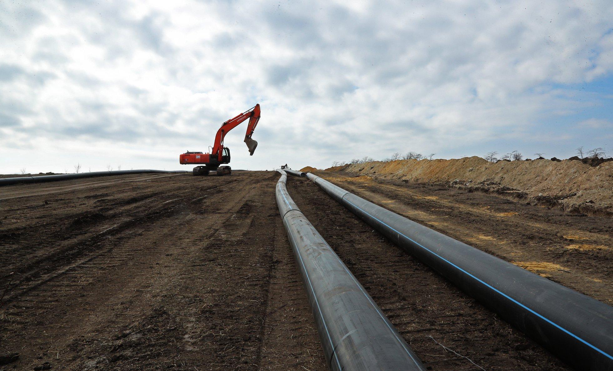 Глава Крыма проинспектировал строительство Бештерек-Зуйского водозабора