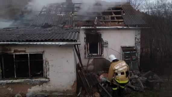 В Симферопольском районе при пожаре в доме погиб мужчина
