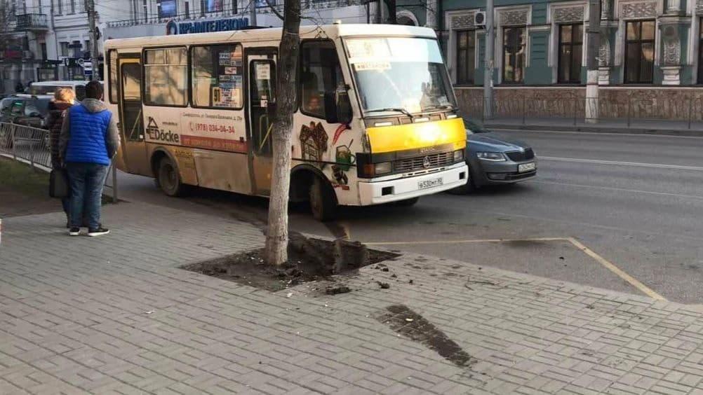 В Симферополе водитель автобуса влетел в остановку с людьми и сбил пожилую женщину