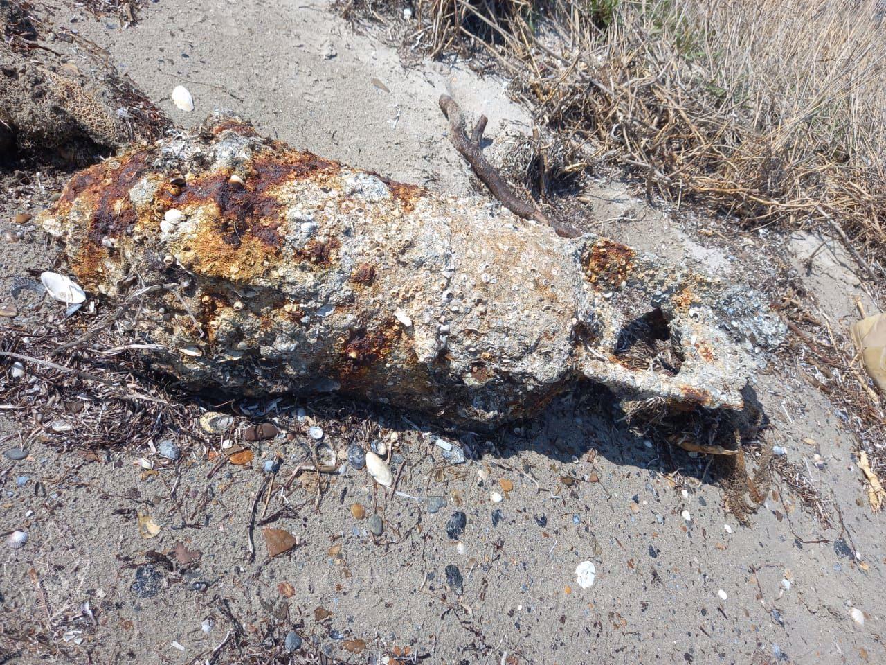 На берег Керченского пролива выбросило 100-килограммовую авиабомбу времён войны