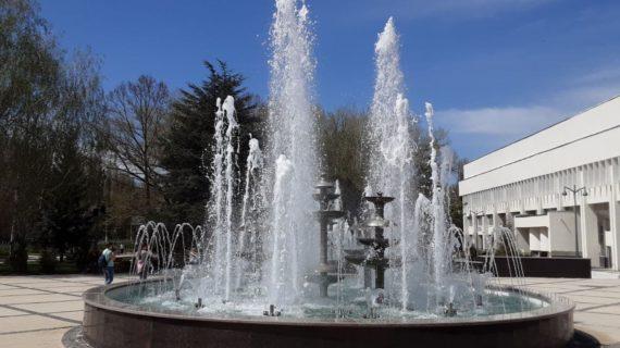 В Симферополе запустили фонтаны возле Дворца культуры профсоюзов