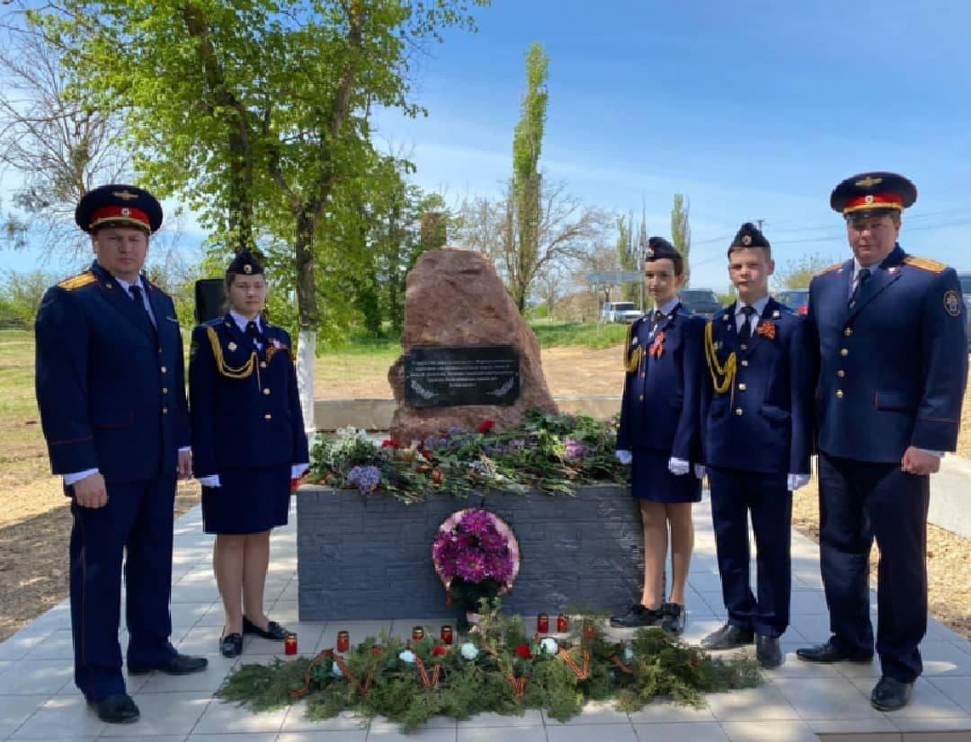 В Сакском районе установили мемориал в память о замученных гитлеровцами местных жителях