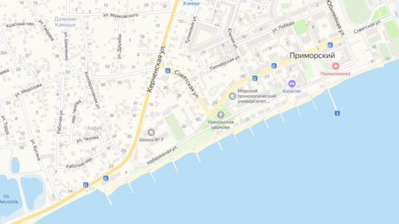 На одной из улиц в посёлке Приморский прорвало канализационный коллектор