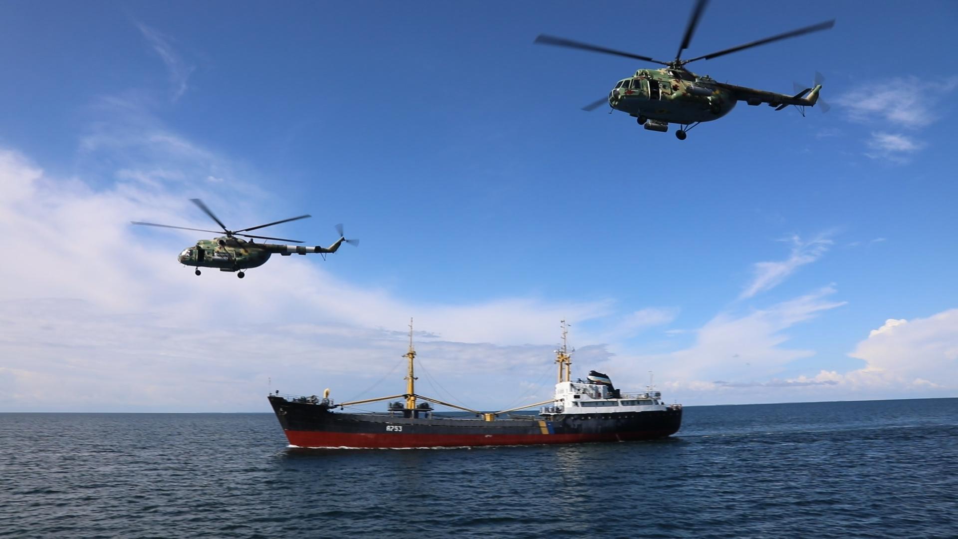 Украинские военные тренировались  Чёрном море с мишенями от ВМС США