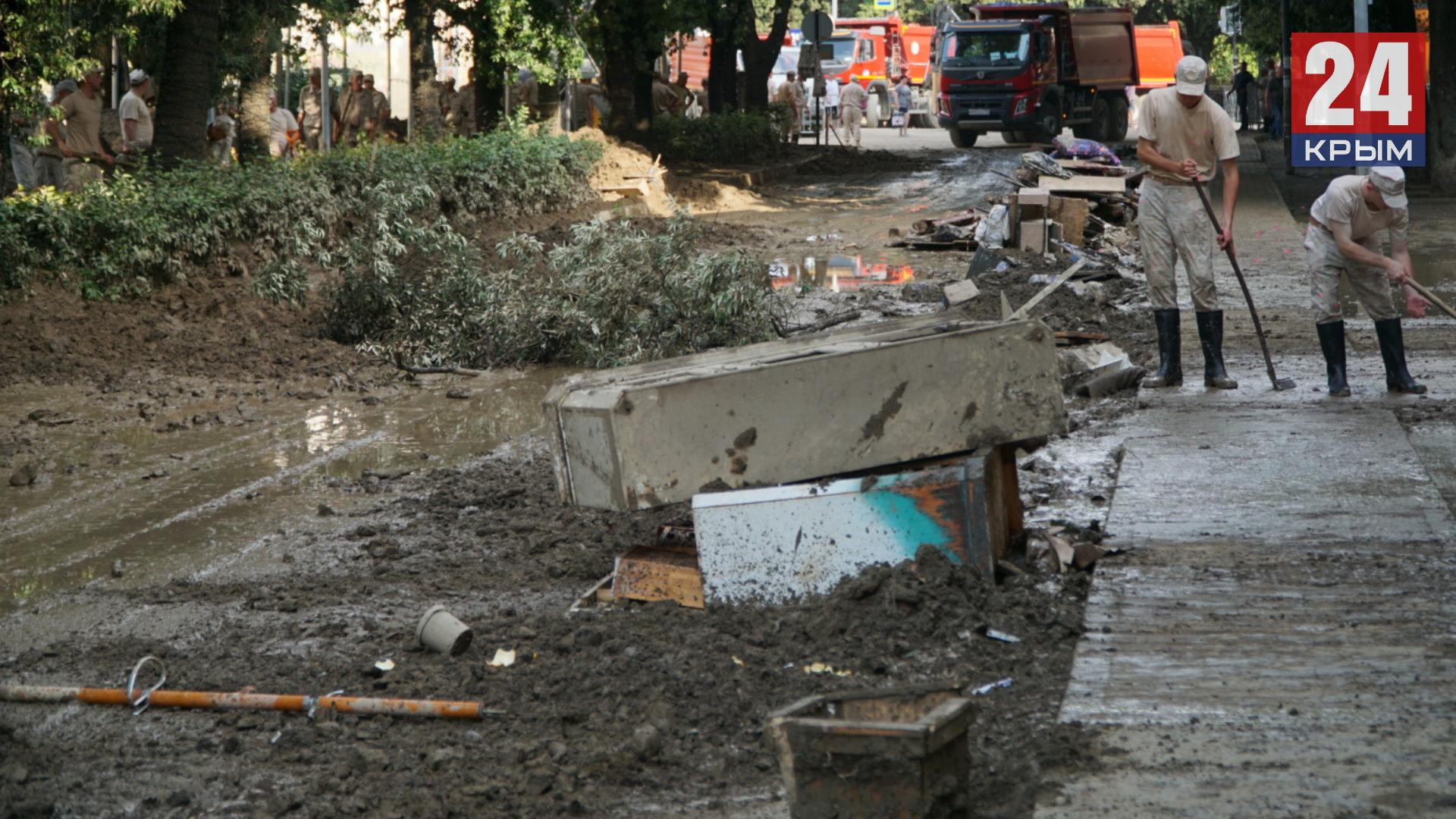 После наводнения из Ялты вывезли почти 50 тысяч тонн отходов