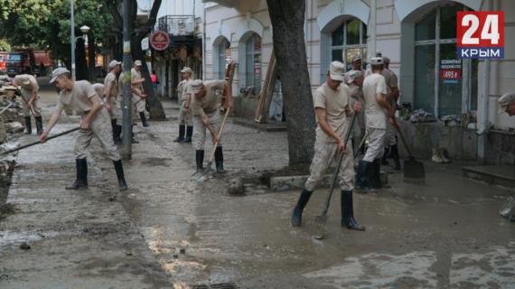 В Краснокаменку направили порядка 200 военных для устранений последствий потопа