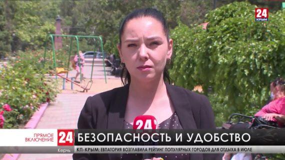 В Керчи ремонтируют детские площадки
