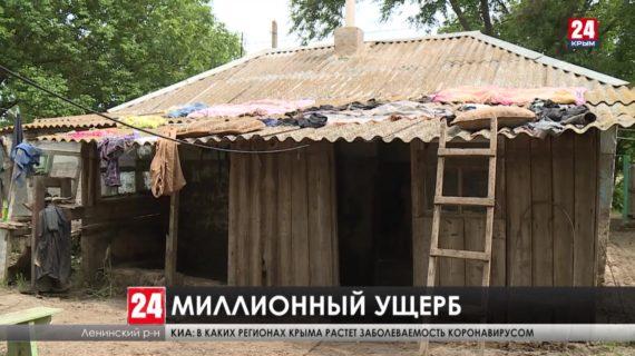 В Ленинском районе стихия уничтожила 122 гектара зерновых культур
