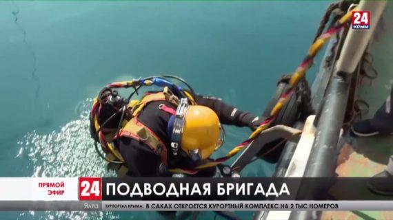 Бригада подводников ремонтирует глубоководные выпуски Ялты. На каком они этапе работы?
