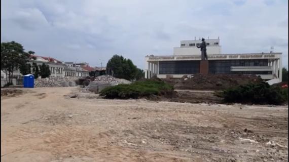 Администрация Симферополя показала, как проходит реконструкция площади Ленина
