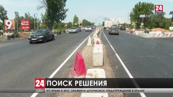 Дорогу расширили, трафик увеличился, но пробки остались. Когда на трассе Симферополь-Евпатория не будет пробок?