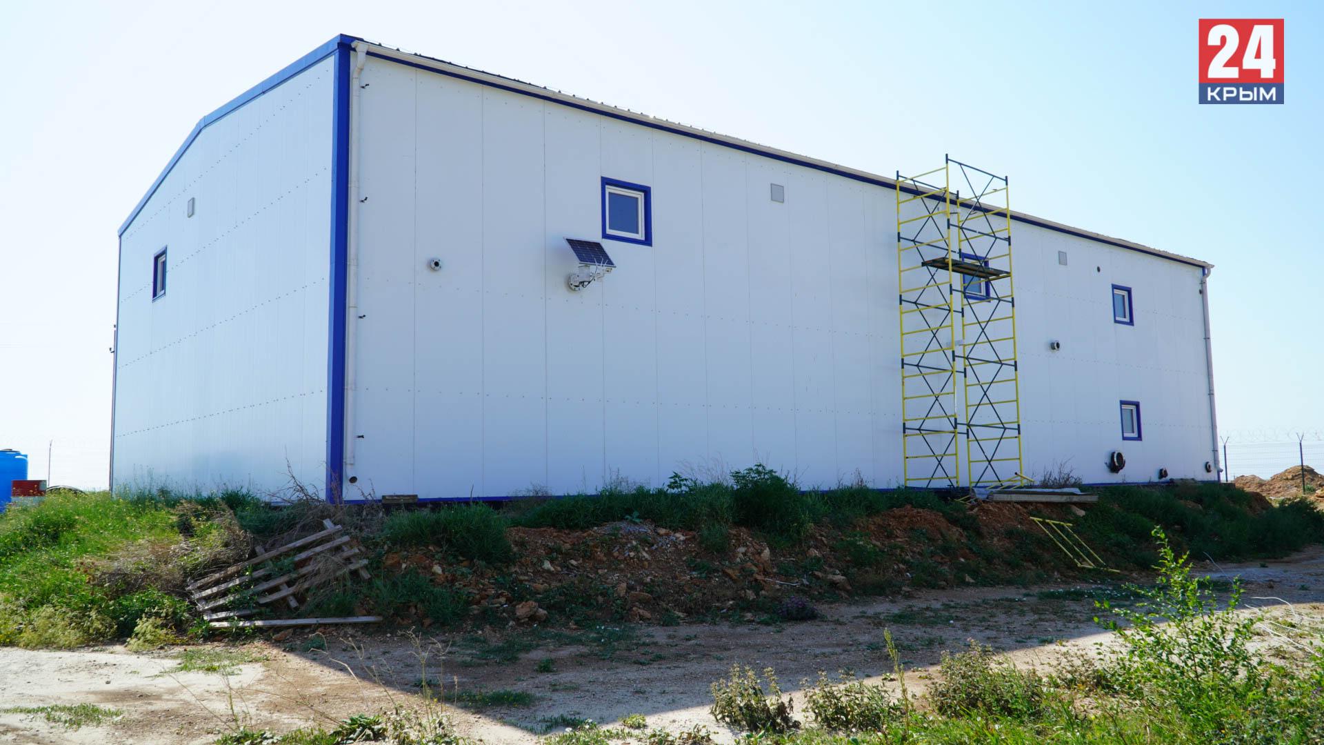 Биологические очистные сооружения в Оленевке готовы на 85%
