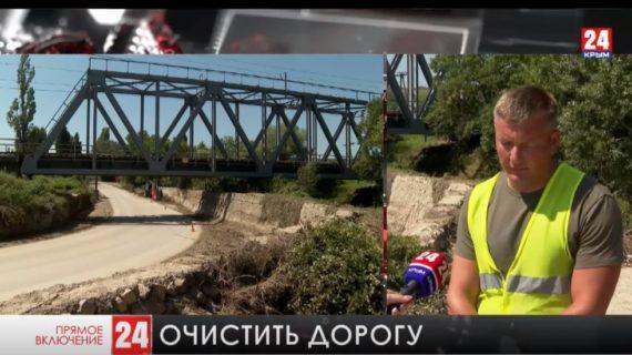 В севастопольском селе Фронтовое продолжают устранять последствия ливней