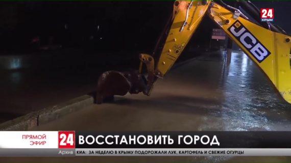 В Керчи не пожалеют денег на восстановление разрушенных стихией  тротуаров и дорог