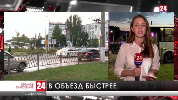 Сотни автомобилистов встали в многокилометровую пробку на центральных улицах Симферополя