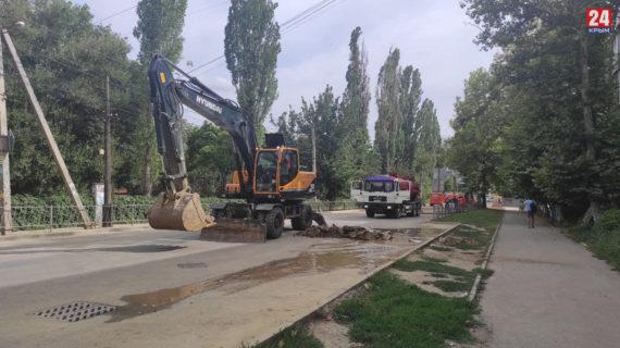 В Симферополе из-за ремонтных работ перекрыли часть дороги по улице Беспалова