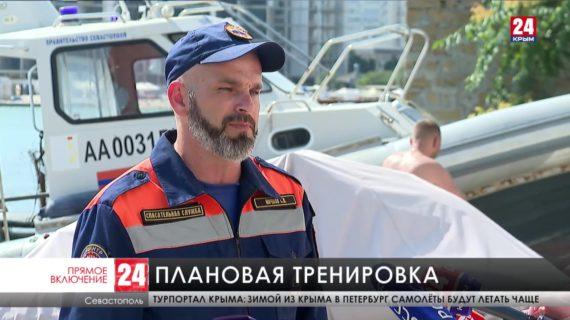 В Севастополе водолазы отрабатывают ликвидацию ЧП на пляжах