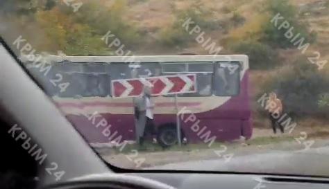 Под Севастополем иномарка столкнулась с рейсовым автобусом. ФОТО, ВИДЕО