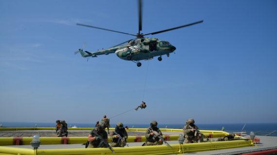 В Крыму силовики пресекли условный теракт на одной из платформ «Черноморнефтегаза»
