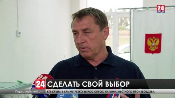 Юрий Гоцанюк проголосовал в родном селе в Первомайском районе