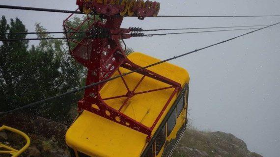 Из-за сильного ветра канатная дорога «Мисхор - Ай-Петри» приостановила работу на 2 часа